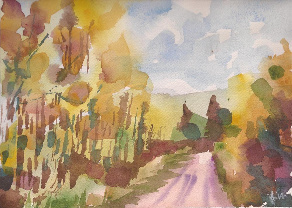 """Alvarado Campground, Westcliffe, CO"" original fine art by Jean Krueger"
