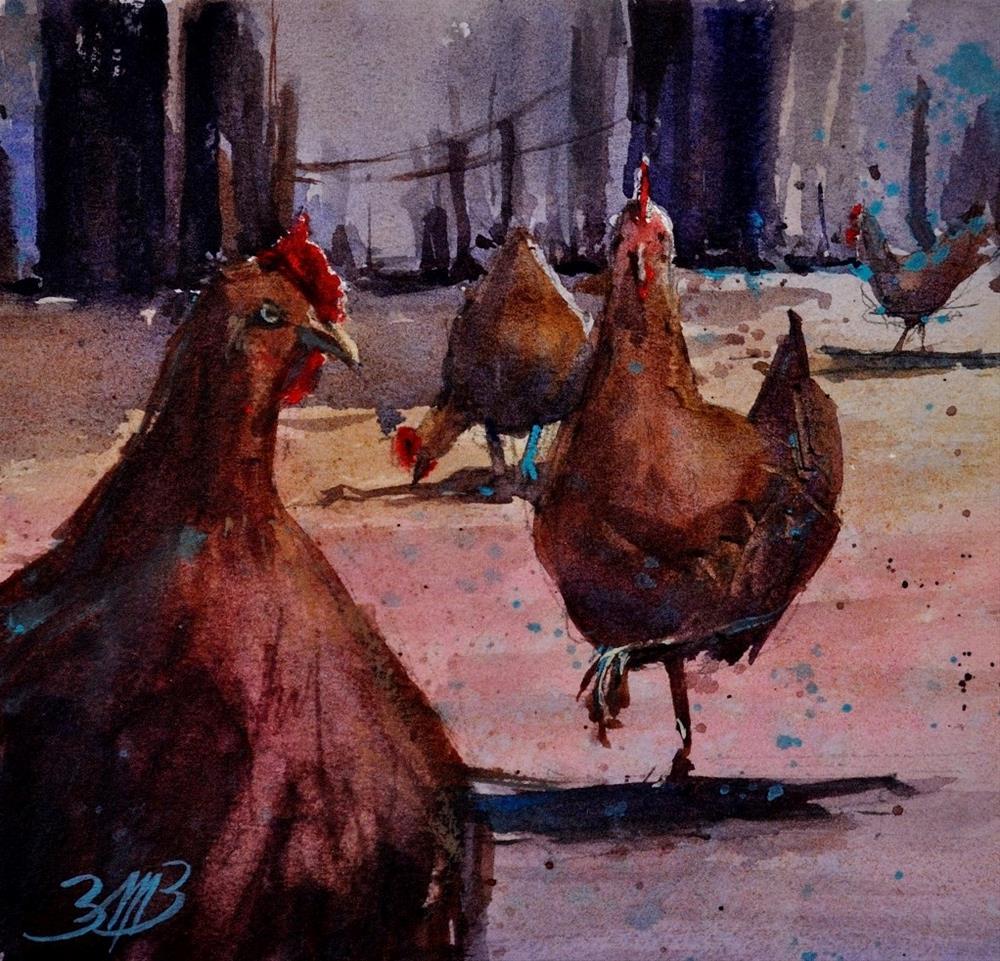 """""""My Girls"""" original fine art by Brienne M Brown"""