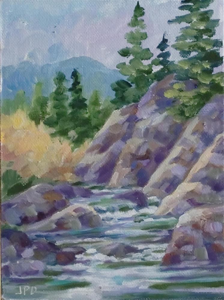 """11 Mile Canyon Creek"" original fine art by Jean Pierre DeBernay"