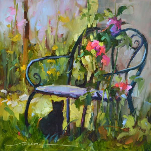"""""""Cat's View of France"""" original fine art by Dreama Tolle Perry"""