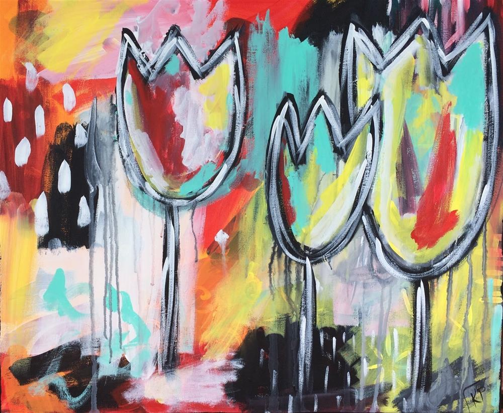"""A Trio of Tulips"" original fine art by Kali Parsons"