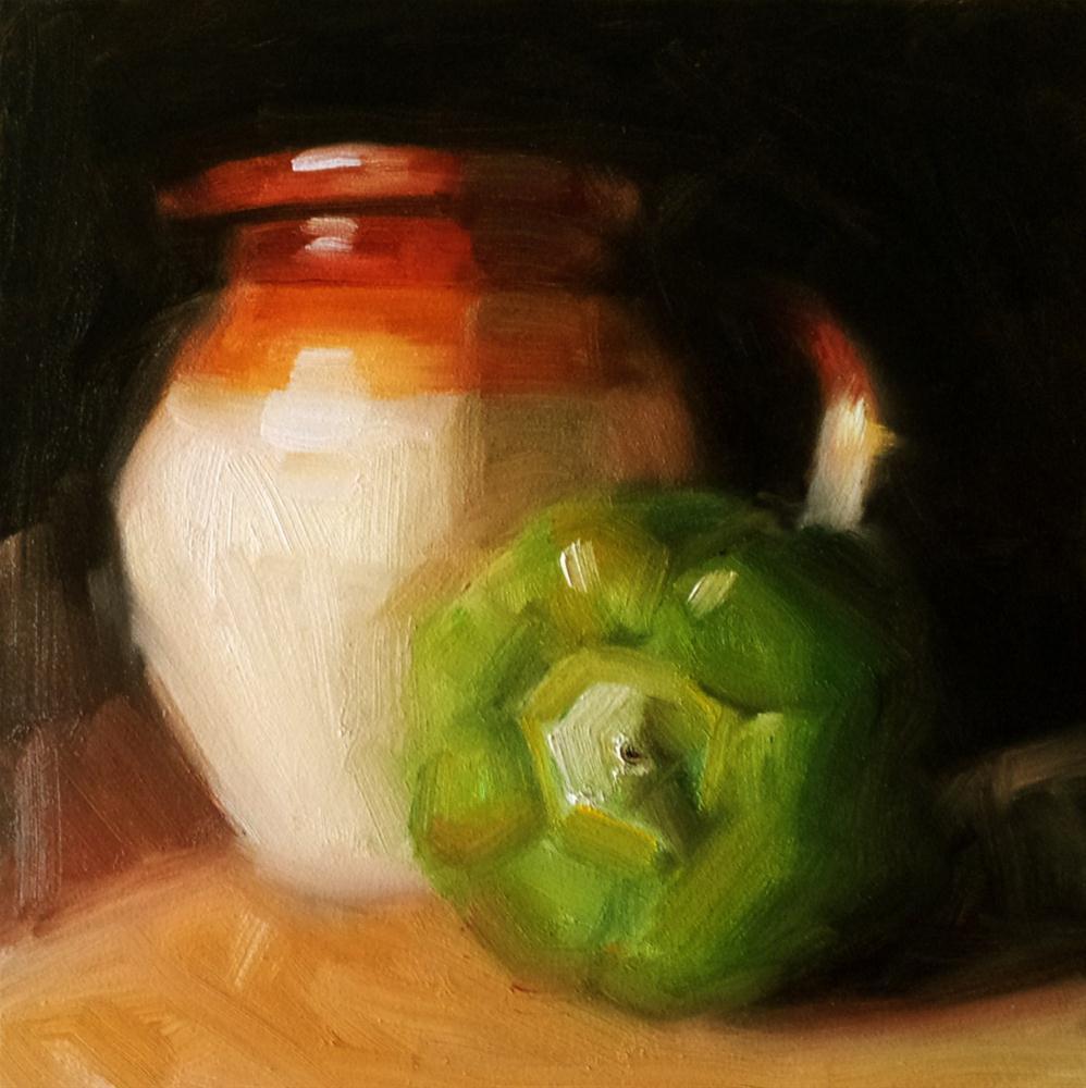 """Pepper and Jug"" original fine art by Cindy Haase"