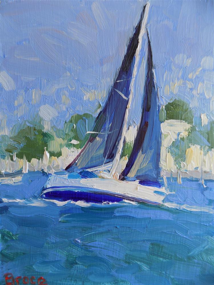 """""""Black Sail San Francisco"""" original fine art by Rita Brace"""