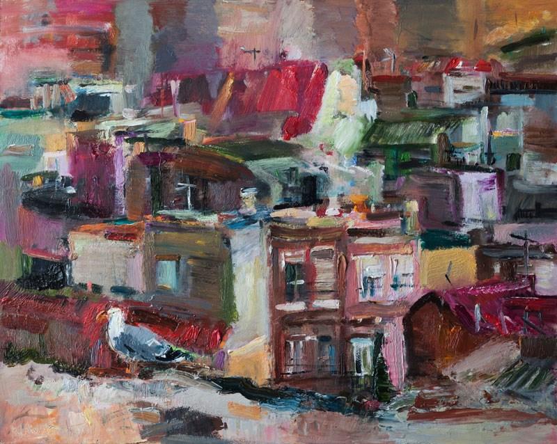 """Cartagena, the Old City"" original fine art by Anna Fine Art"