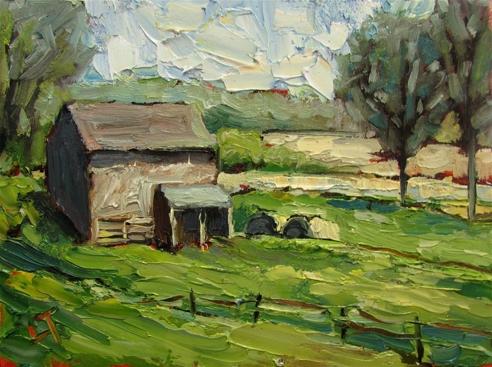 """Brookville IN Barn"" original fine art by Lindsey Elizabeth Tull"