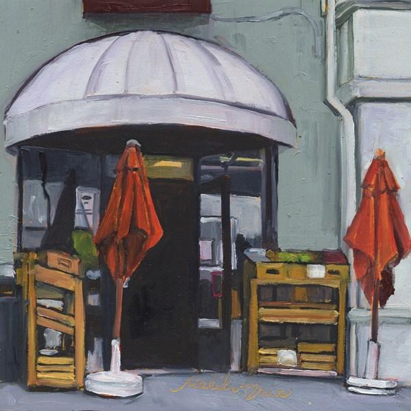 """""""A Market in Little Italy"""" original fine art by Mariko Irie"""