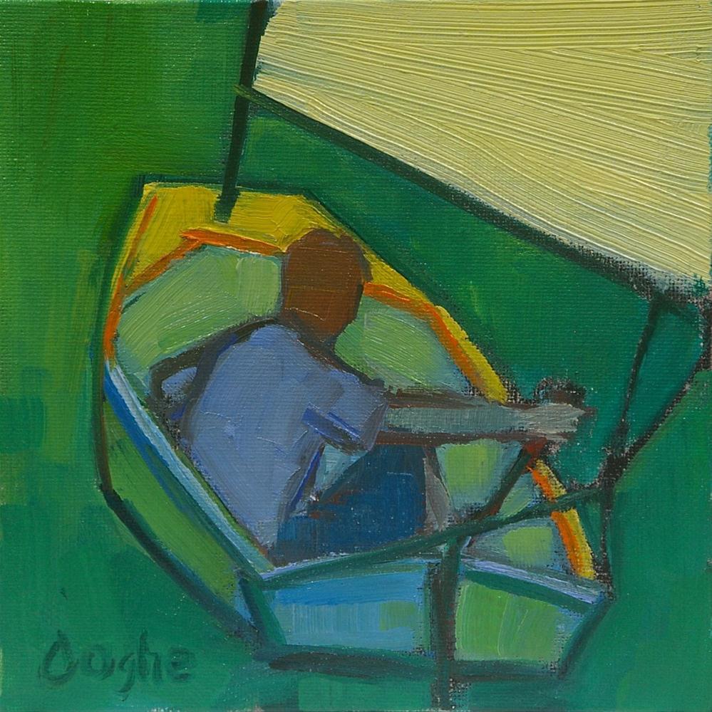 """Sailing Dinghy"" original fine art by Angela Ooghe"