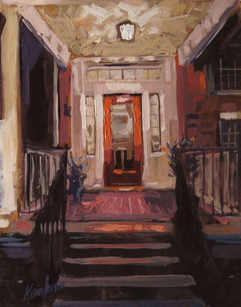 """Old Porch Light"" original fine art by Kevin Larson"