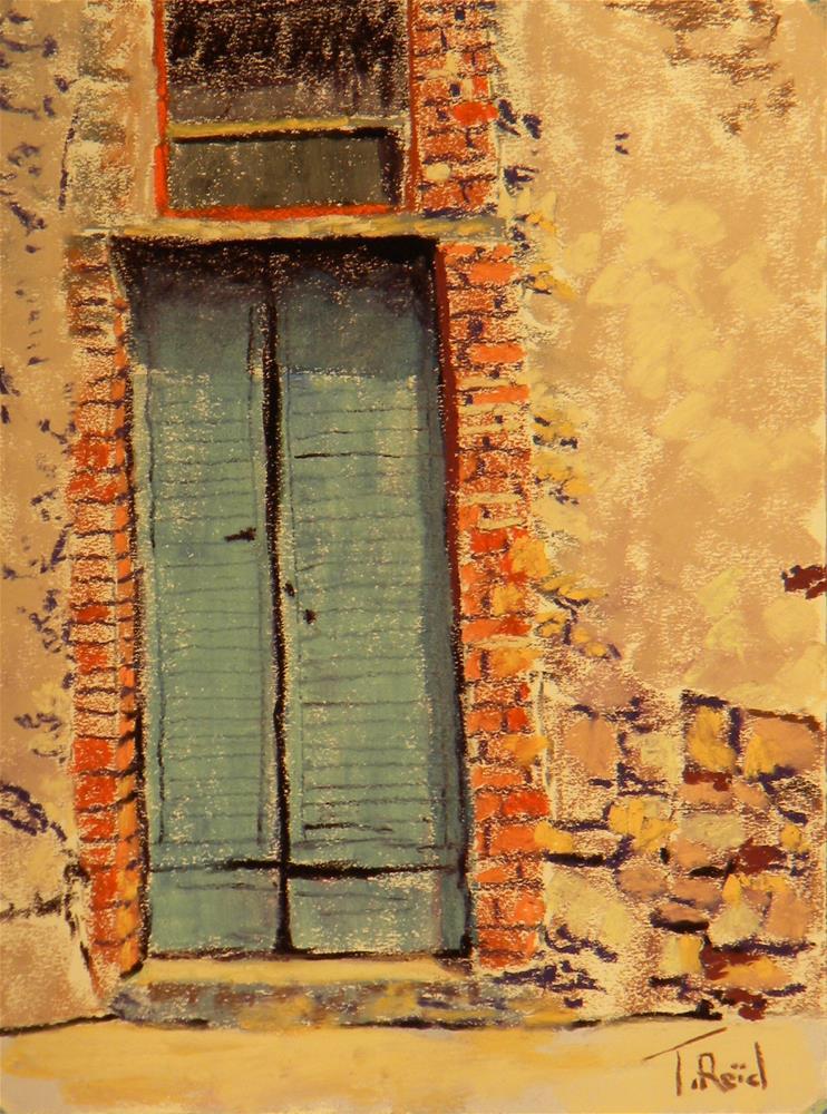 """""""Blue door"""" original fine art by Toby Reid"""