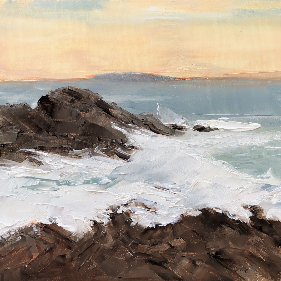 """""""#267 - Afterglow - Fort Williams - ME"""" original fine art by Sara Gray"""