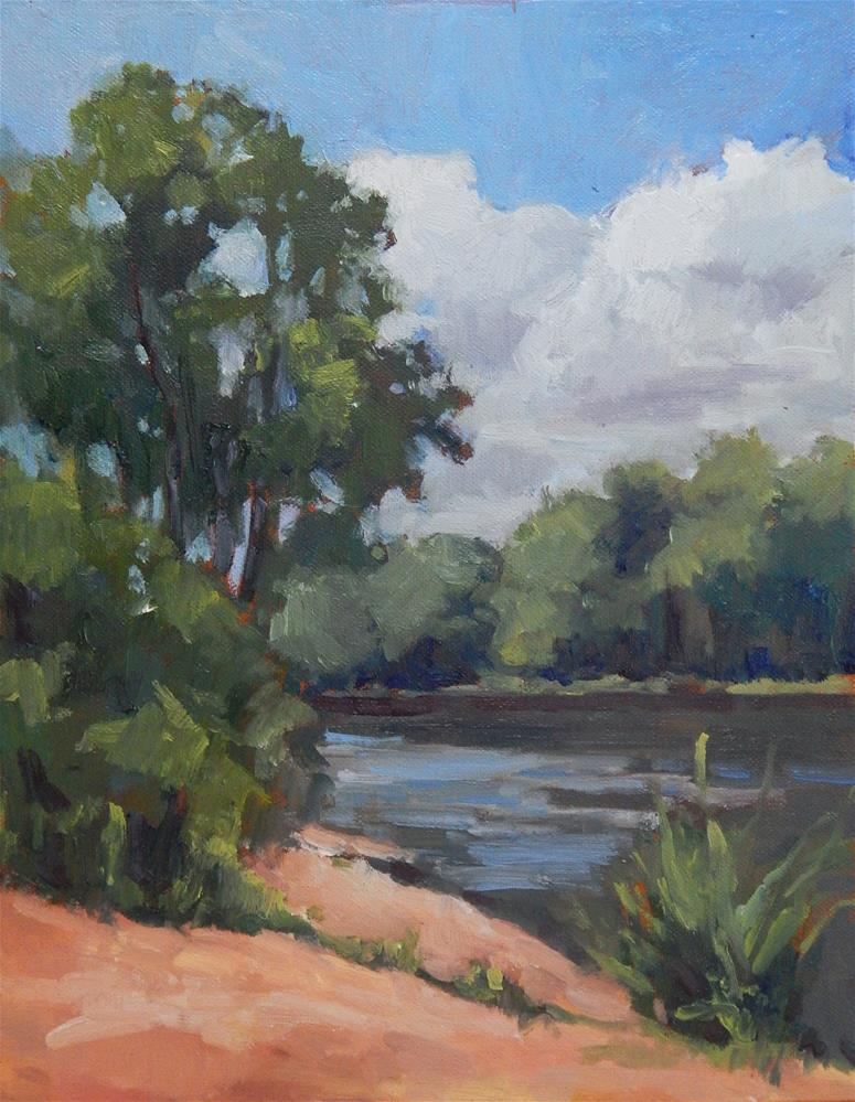 """""""Afternoon at the River"""" original fine art by Lisa Kyle"""
