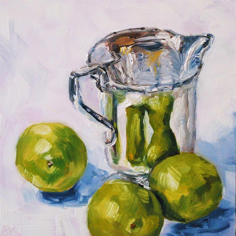 """""""Limes with Creamer"""" original fine art by Alison Kolkebeck"""