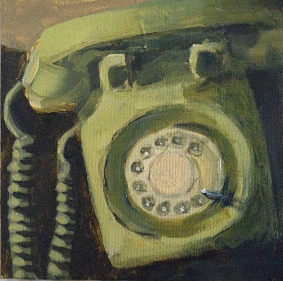 """""""The Green Phone"""" original fine art by Shannon Bauer"""