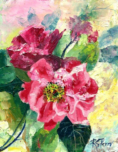"""Wild Roses, unframed."" original fine art by R. S. Perry"