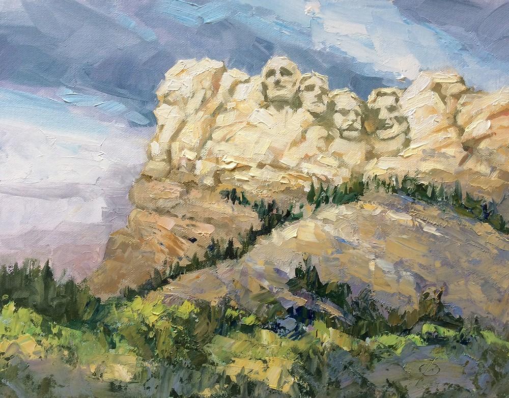 """MOUNT RUSHMORE"" original fine art by Tom Brown"