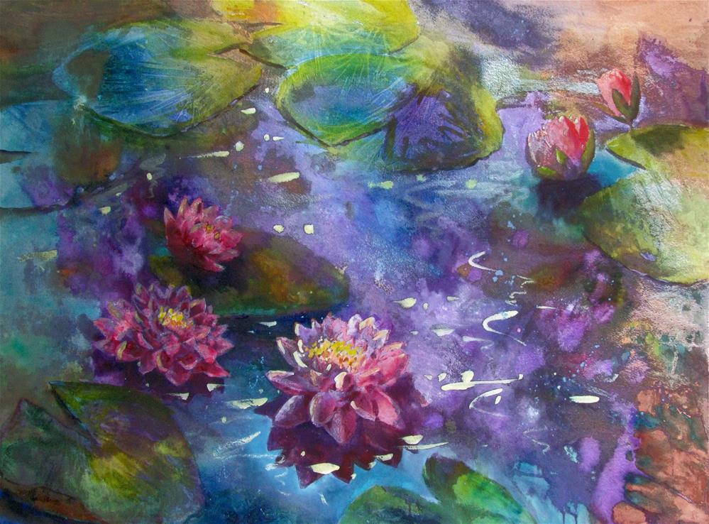 """""""Elegant Water Dance"""" original fine art by Melissa Gannon"""