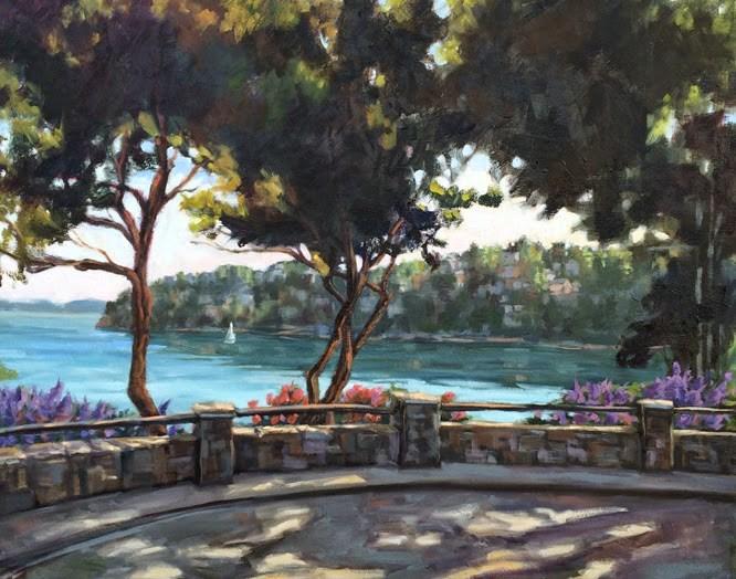 """""""Island View ... again!"""" original fine art by Deborah Newman"""
