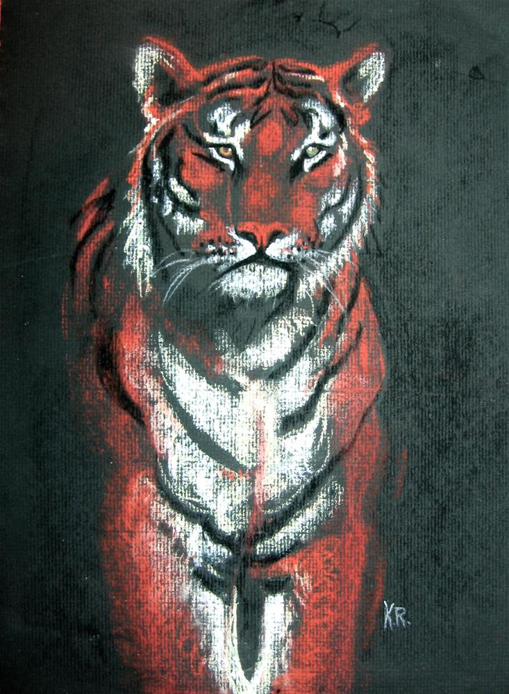 """Tiger Study"" original fine art by Karen Roncari"