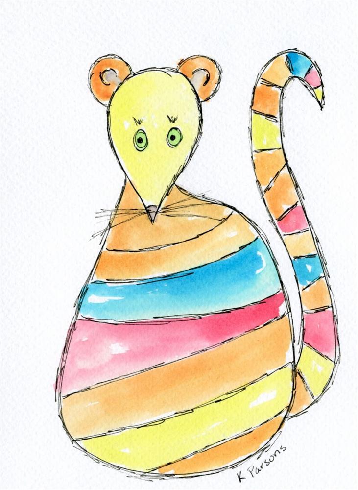 """""""Oh, Rats!"""" original fine art by Kali Parsons"""