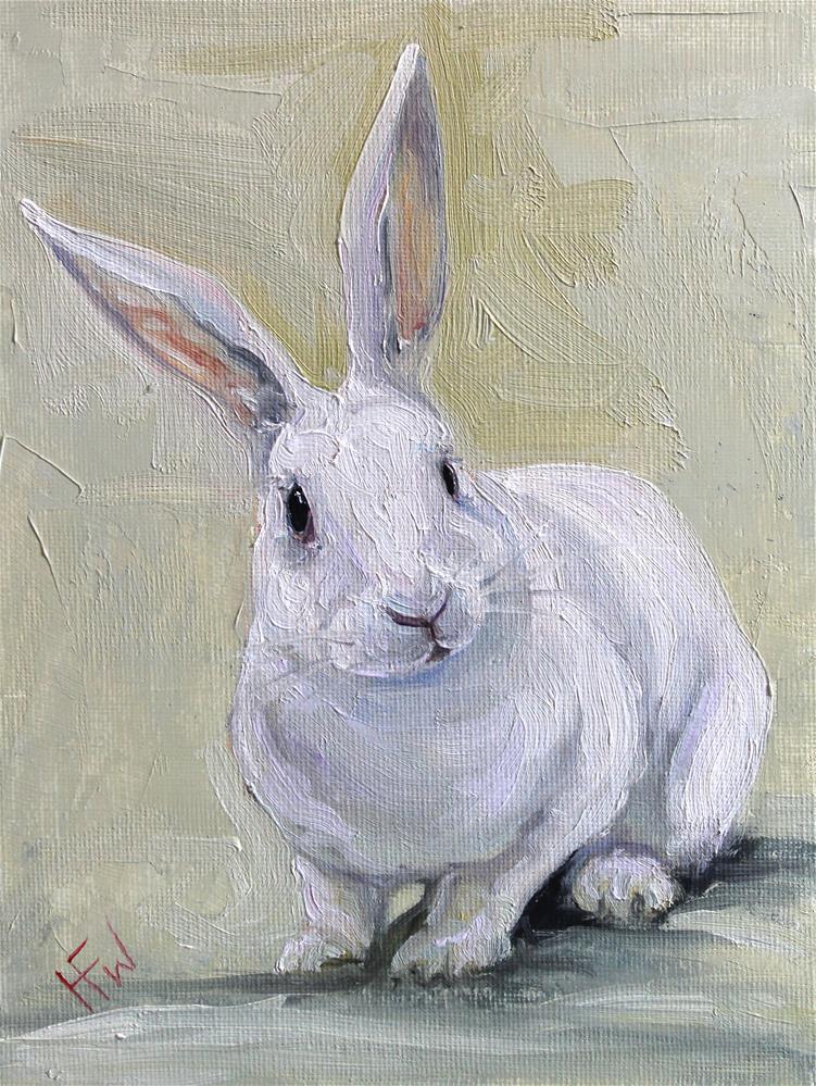"""""""White Rabbit"""" original fine art by H.F. Wallen"""