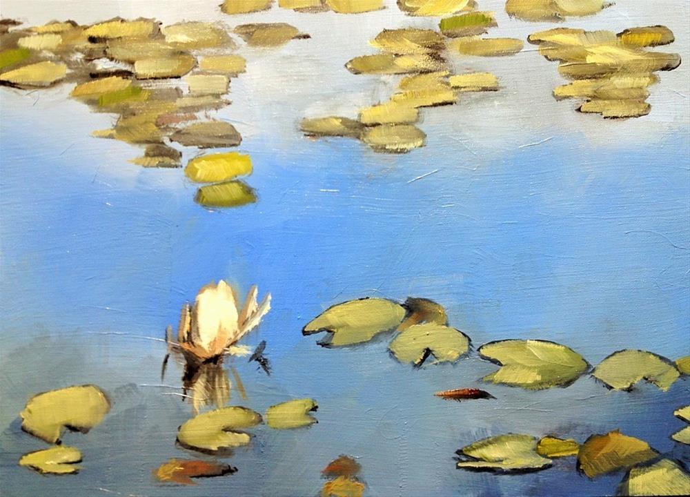 """Greystone Manor Reflecting Pool"" original fine art by Gary Bruton"