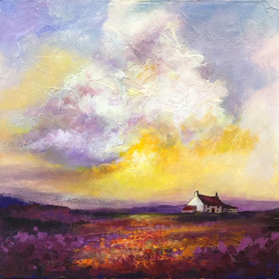 """""""Moorland cottage"""" original fine art by Jane Palmer"""