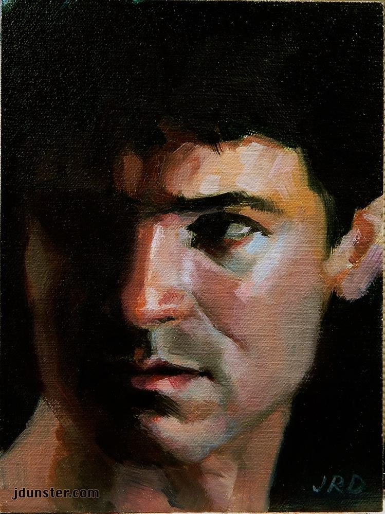 """Fleeting Glance"" original fine art by J. Dunster"