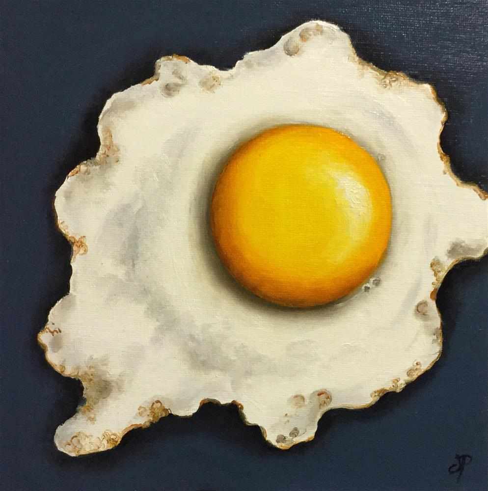 """Eight inch Egg #2"" original fine art by Jane Palmer"
