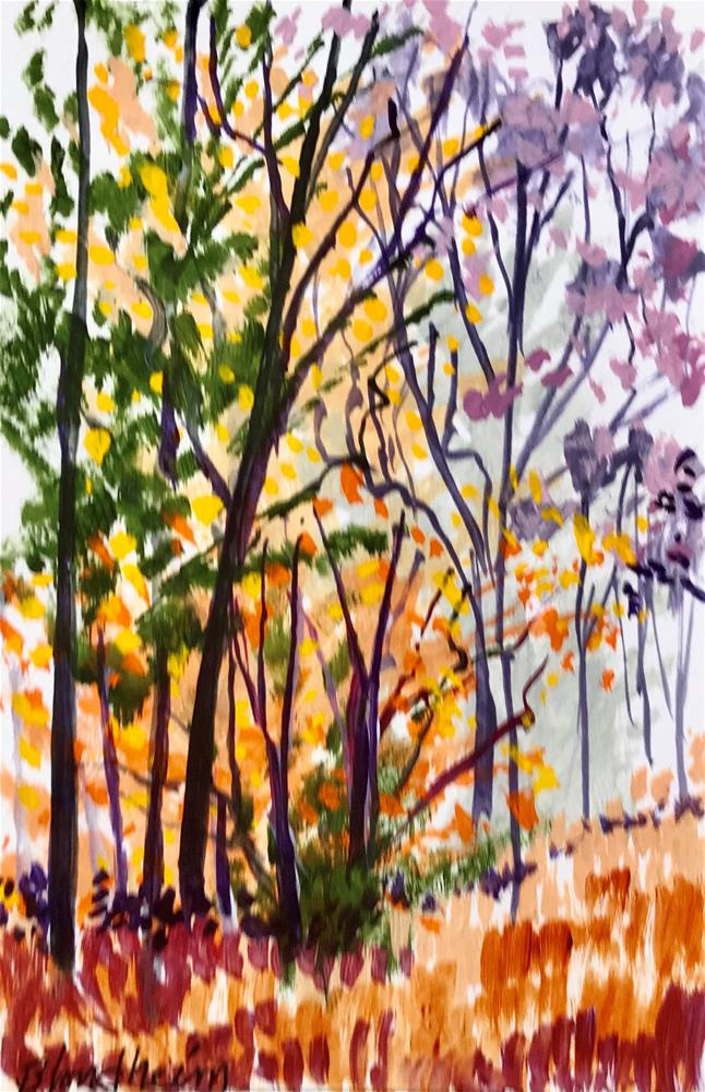 """Fish Prairie Fall"" original fine art by Linda Blondheim"