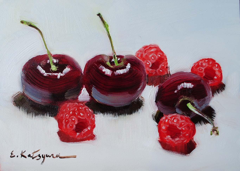 """Three + Four"" original fine art by Elena Katsyura"