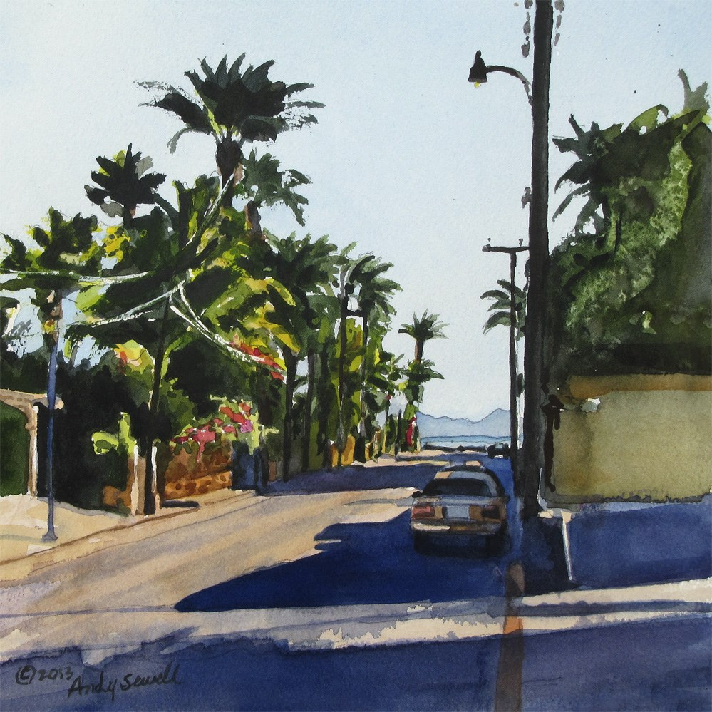 """""""Streets of Loreto"""" original fine art by Andy Sewell"""