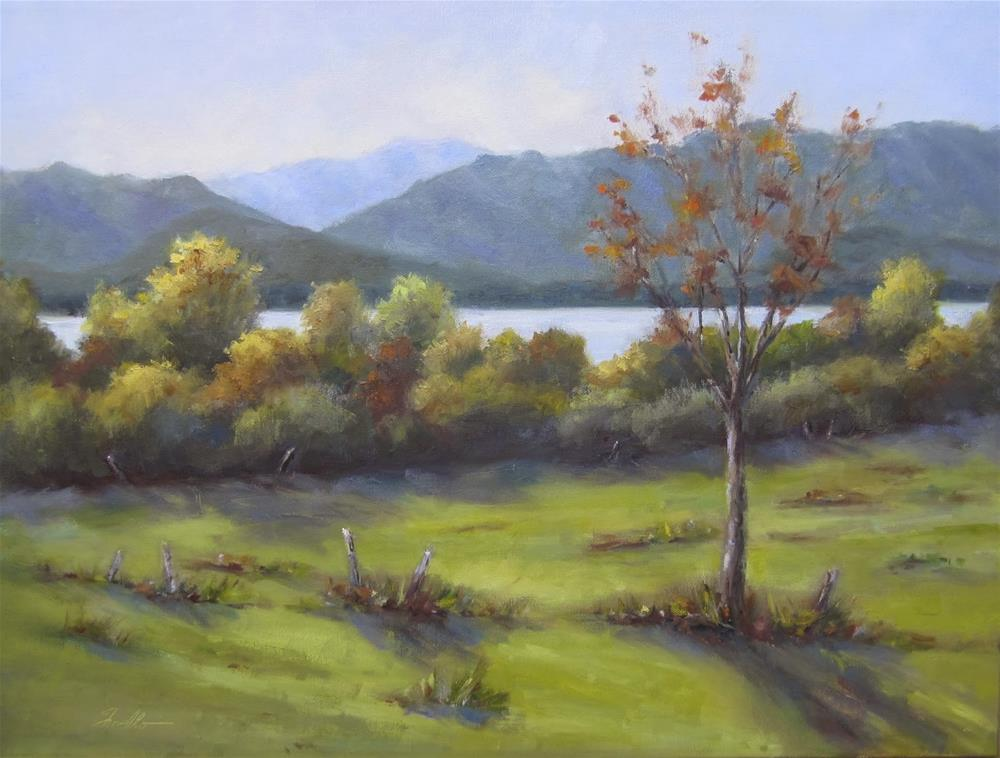 """""""View to Mt. Washington"""" original fine art by Pat Fiorello"""