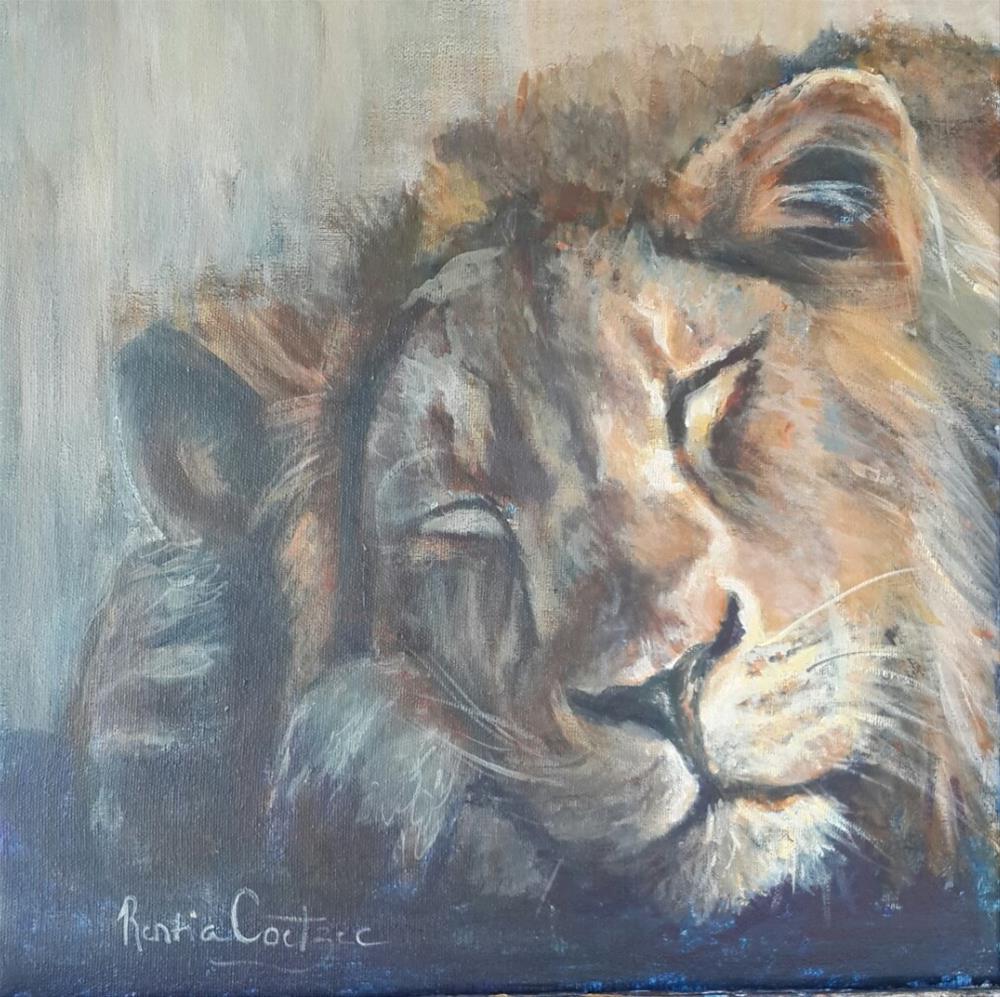 """""""After the hunt"""" original fine art by Rentia Coetzee"""