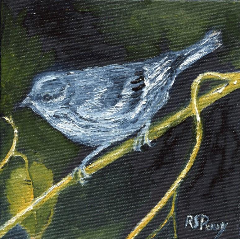 """""""Sparrow"""" original fine art by R. S. Perry"""
