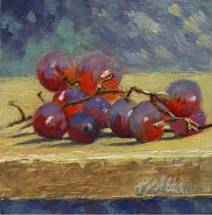 """Red Grapes"" original fine art by Daniel Fishback"