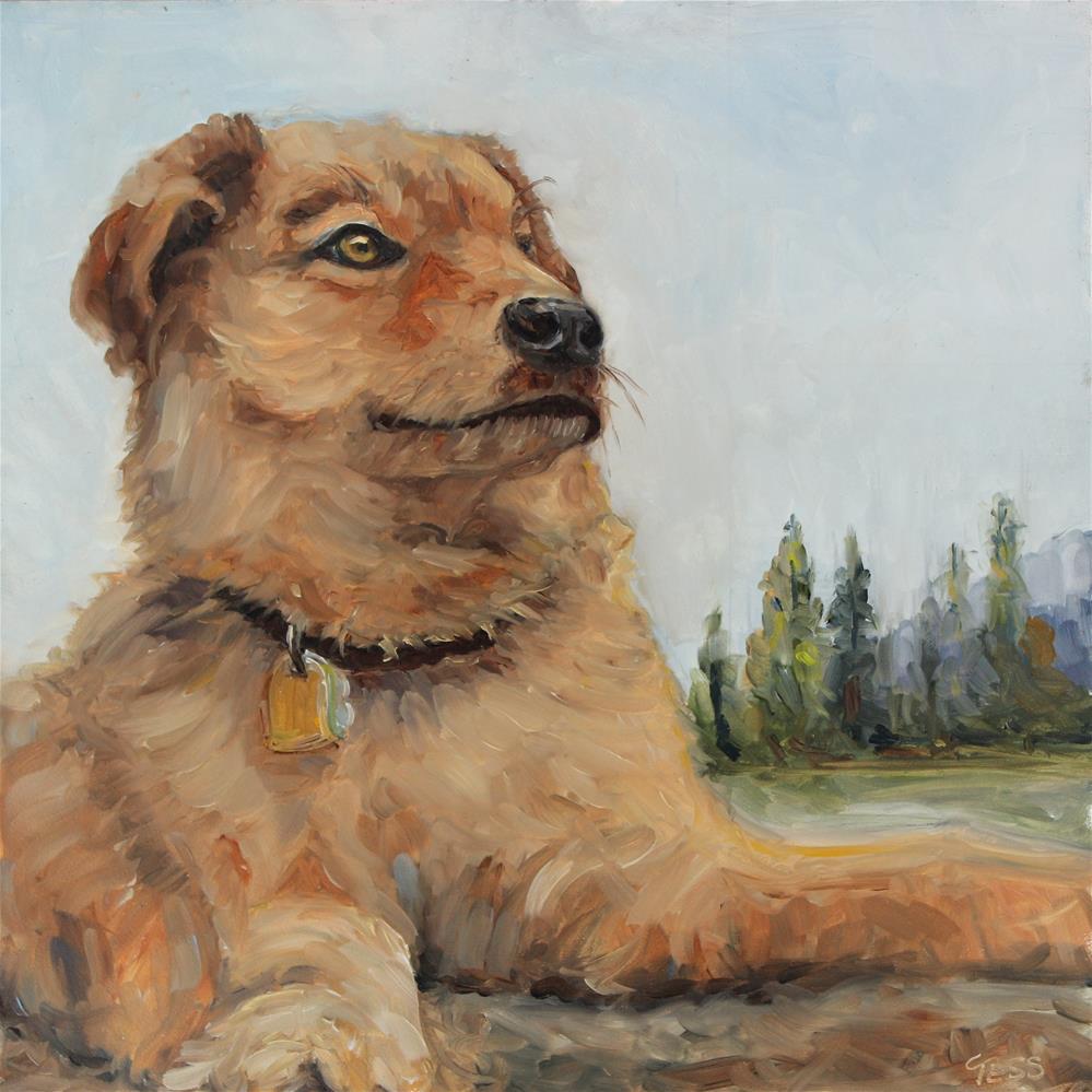 """Charlie"" original fine art by Tess Lehman"