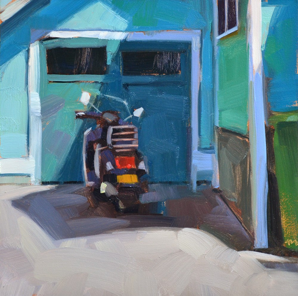 """Parked in the Shade"" original fine art by Carol Marine"