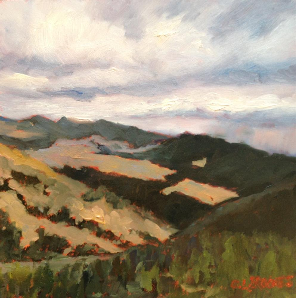 """""""Cloud Patterns on the Mountain"""" original fine art by Claudia L Brookes"""