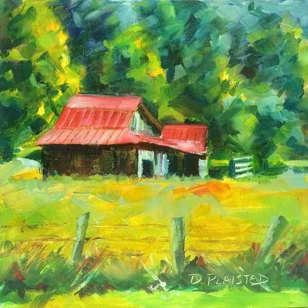 """Barn in Blue Ridge Country"" original fine art by Diane Plaisted"
