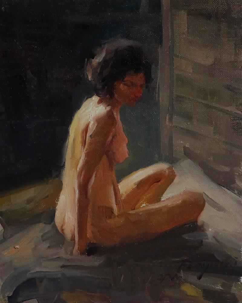 """figure study 2021-002"" original fine art by Fongwei Liu"