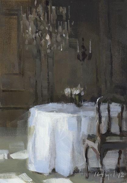 """Reception Table - Quick Study"" original fine art by David Lloyd"