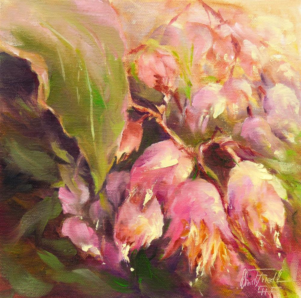 """in full bloom"" original fine art by Christa Friedl"