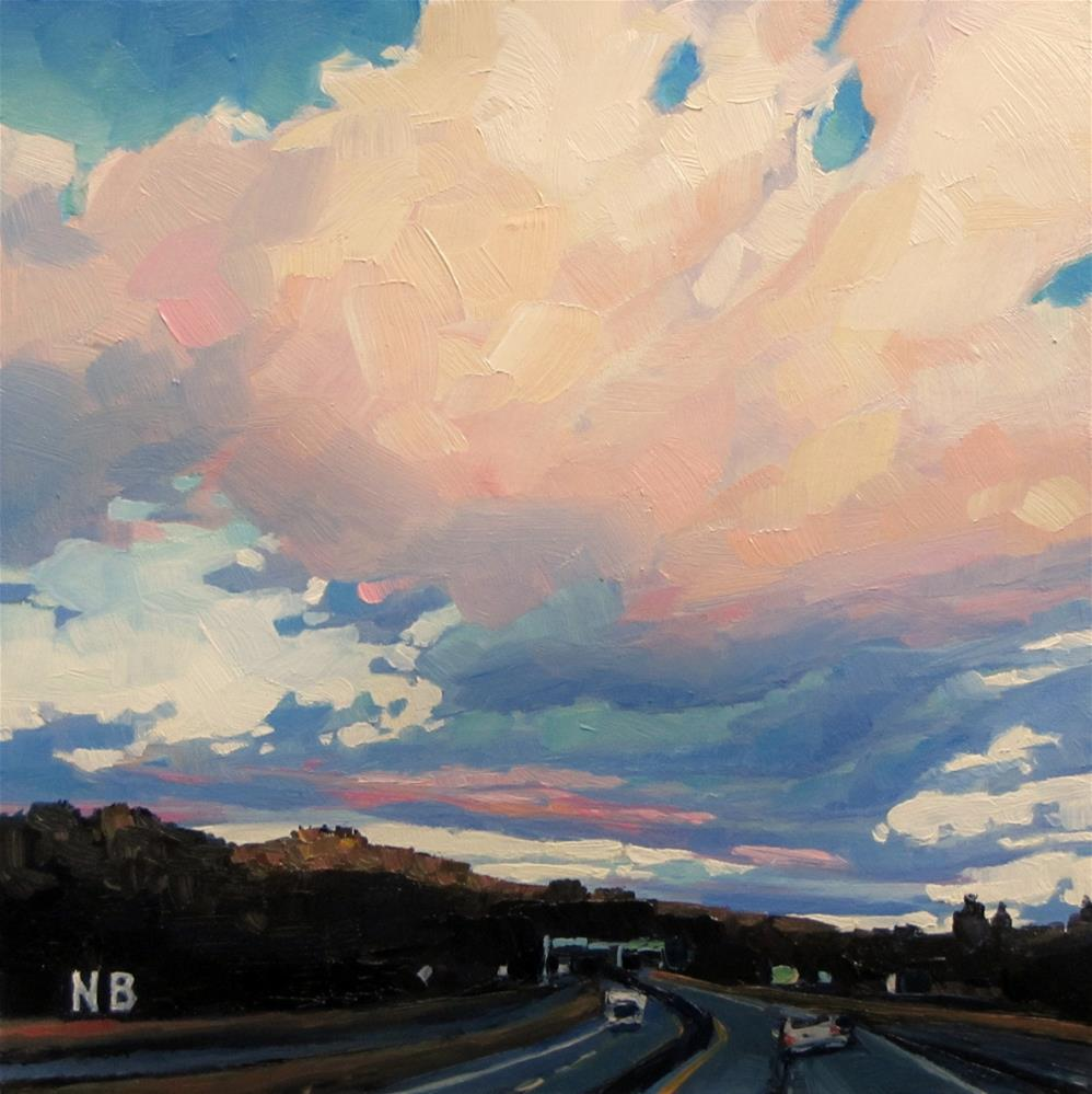 """Cotton Candy Clouds"" original fine art by Nora Bergman"