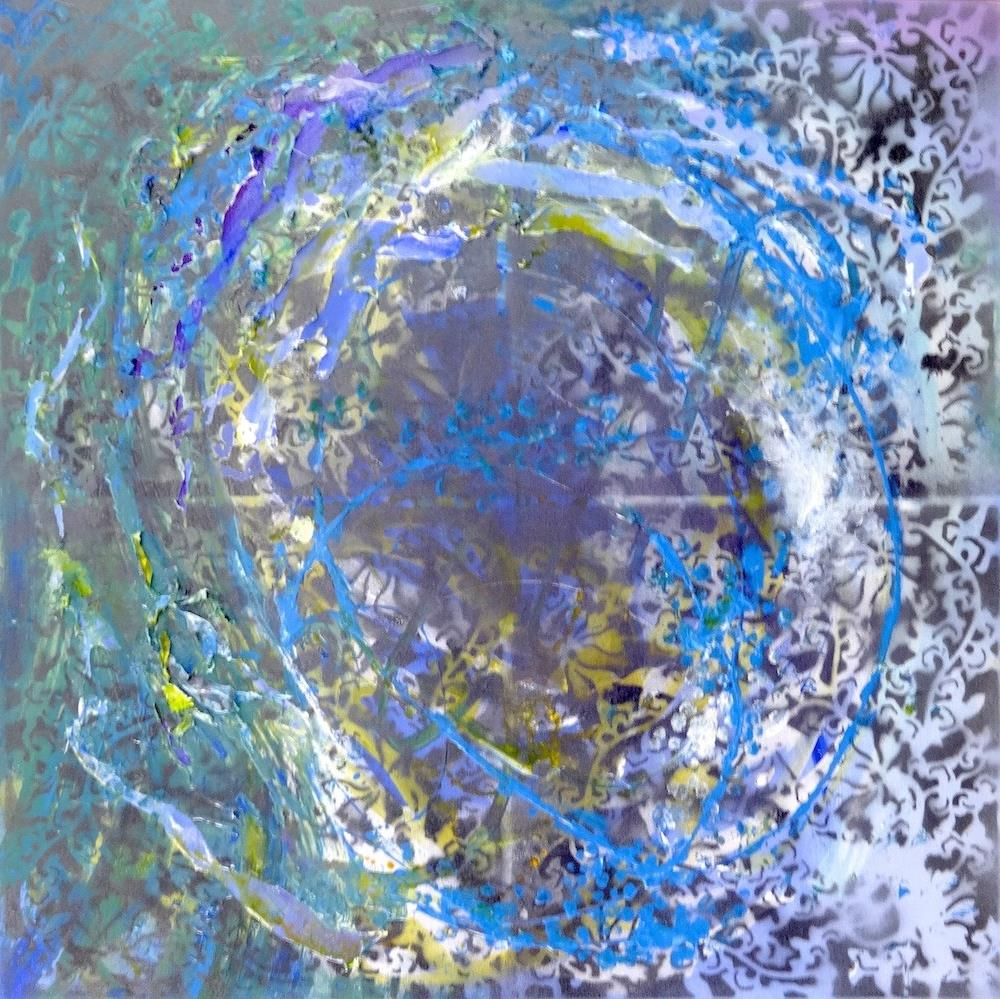 """5031 - Wormhole - Exhibition Size"" original fine art by Sea Dean"
