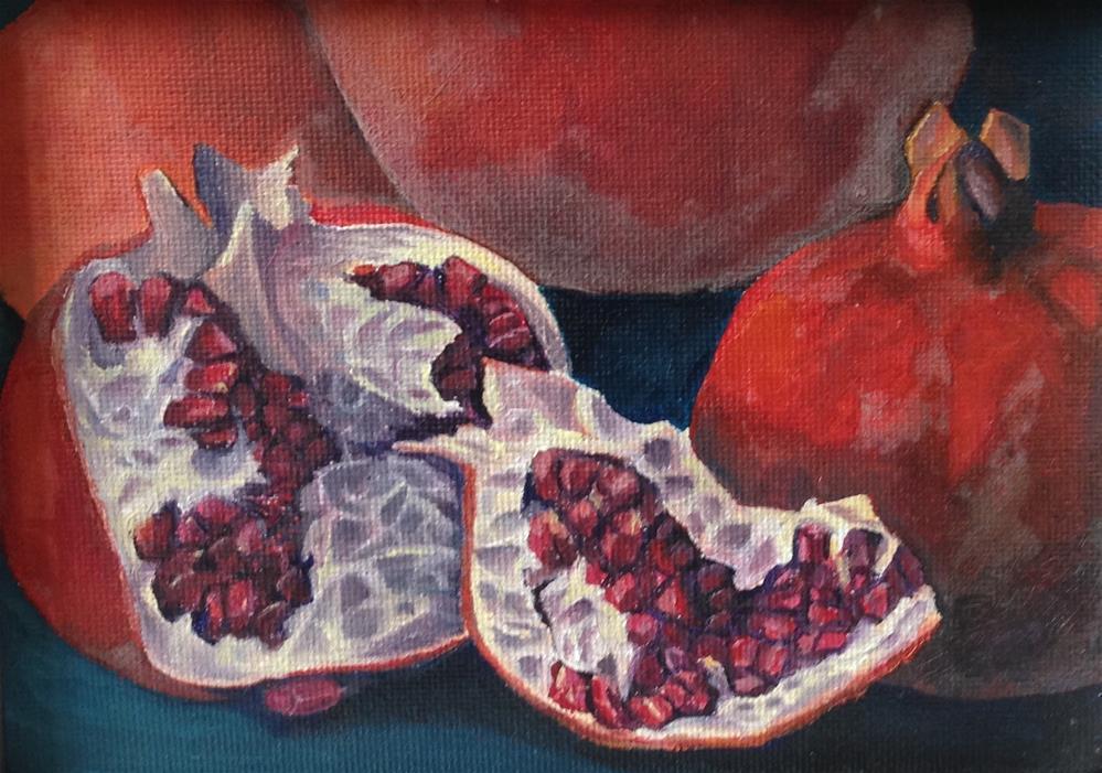 """Pomegranates"" original fine art by Karen Collins"