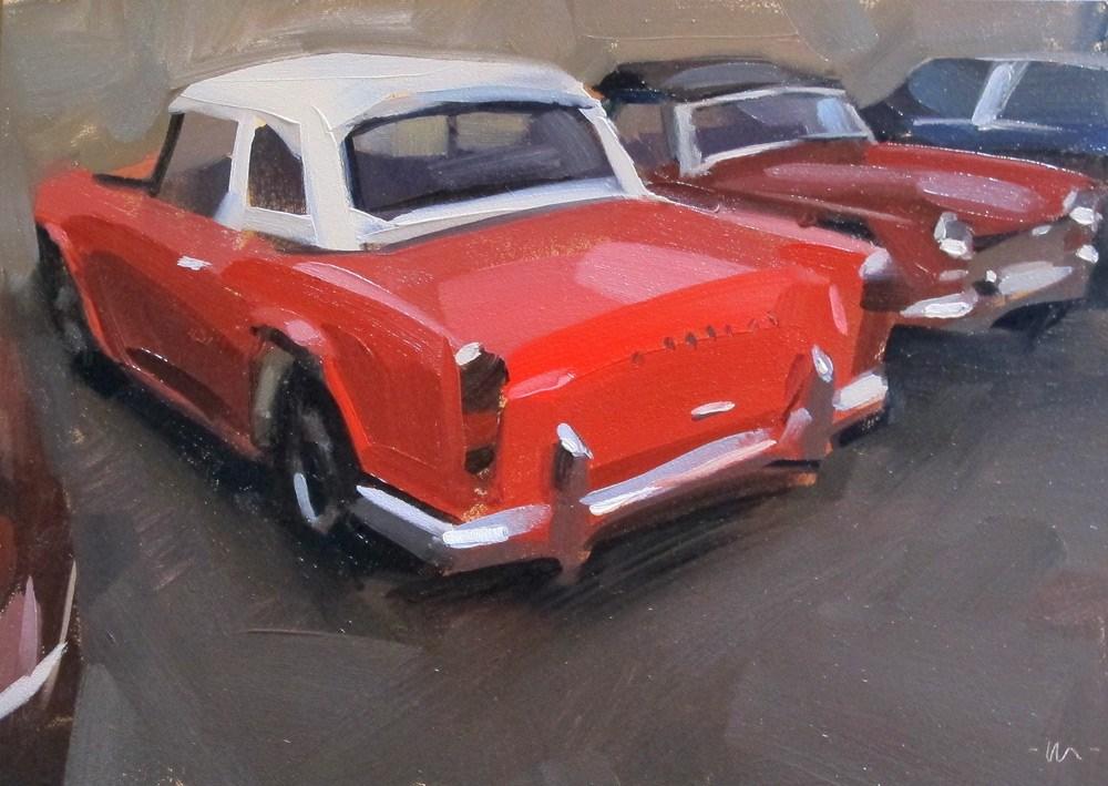 """Red Triumph"" original fine art by Carol Marine"