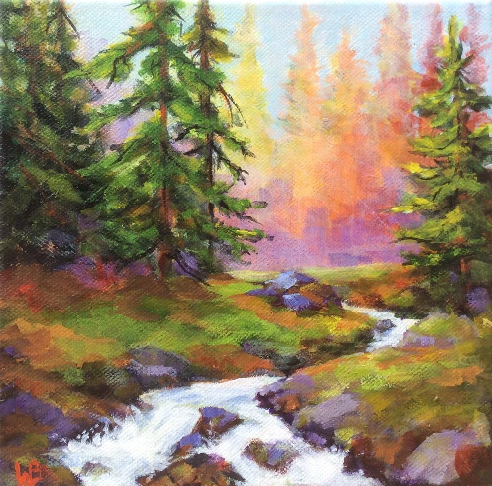 """Radiant"" original fine art by wendy black"
