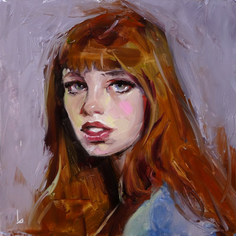 """Rosy Cheek"" original fine art by John Larriva"