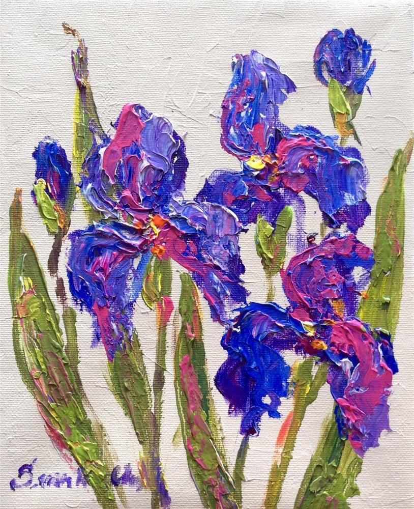 """""""Three irises"""" original fine art by Sonia von Walter"""