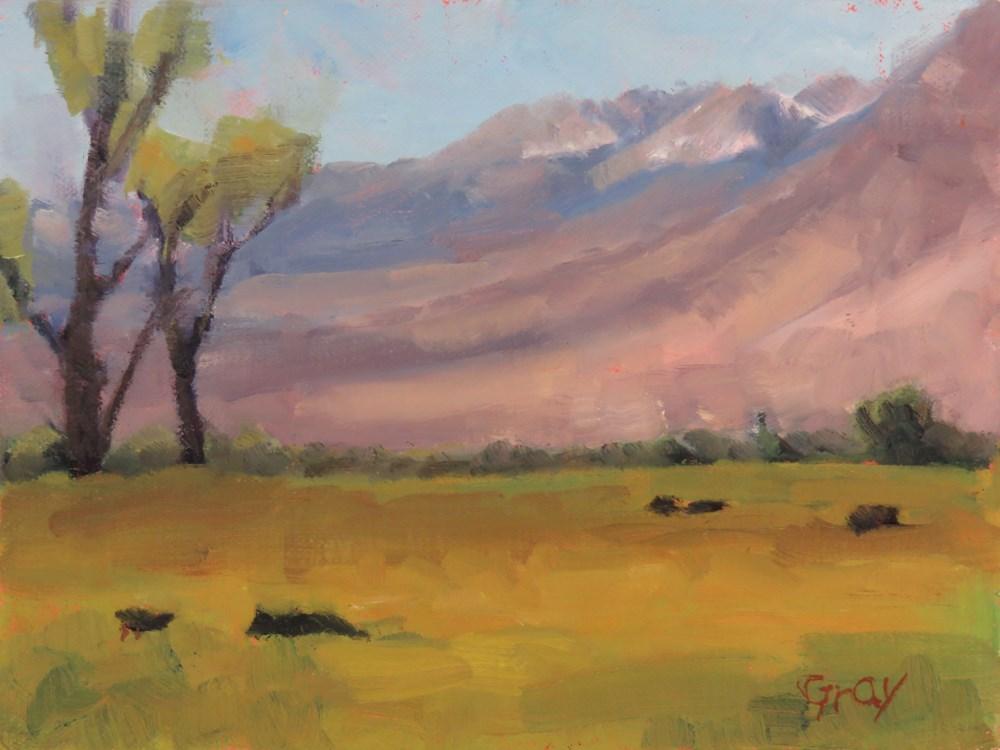 """""""Sierras from Round Valley"""" original fine art by Naomi Gray"""